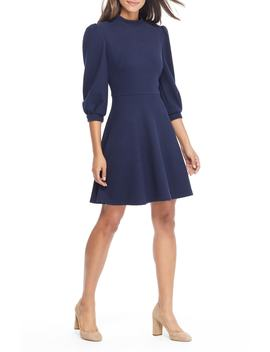 Maggie Texture Knit Fit & Flare Dress by Gal Meets Glam Collection