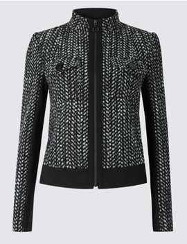 Wool Blend Textured Blazer by Marks & Spencer
