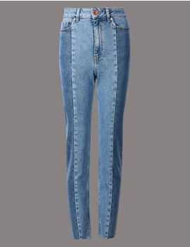 Seamed Straight Leg Jeans by Marks & Spencer
