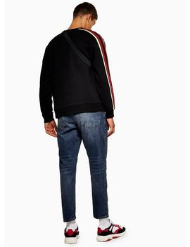 Indigo Marble Rigid Tapered Jeans by Topman