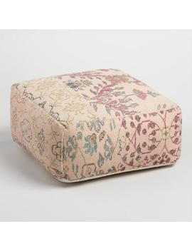 Blush Dhurrie Jaipur Pouf by World Market