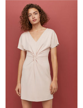 Jerseykleid Mit V Ausschnitt by H&M
