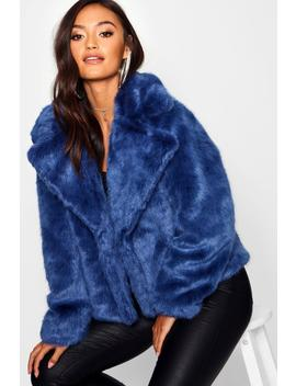 Petite Luxe Faux Fur Coat by Boohoo