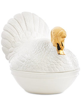 Turkey Covered Vegetable Bowl, Created For Macy's by Martha Stewart Collection