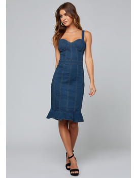 Lorent Denim Dress by Bebe