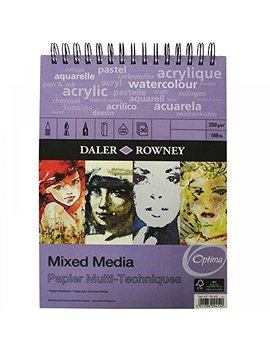 Daler Rowney   Mixed Media Spiral Sketchpad   250gsm   30 Pages   A4 Portrait   Made In England by Daler Rowney
