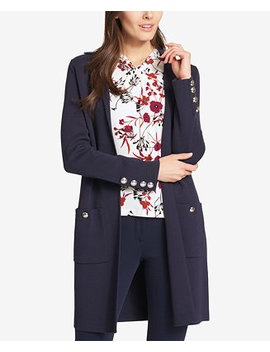 Long Open Front Cardigan Jacket by Tommy Hilfiger