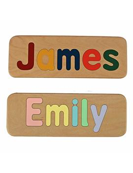 Name Puzzle   Raised Mixed Case Letters For Toddlers   Handmade Wooden Custom Personalized   First Birthday Gift   Educational Toy   $5.00 Shipping For Your Entire Order by Amazon