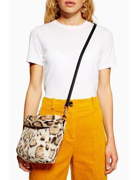 Leopard Print Faux Fur Bucket Bag by Topshop