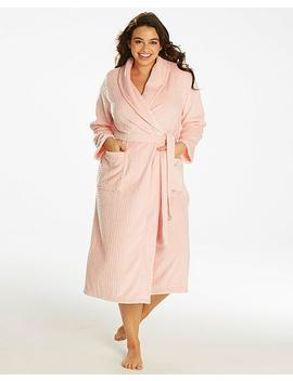 Pretty Secrets Fleece Waffle Gown by Simply Be