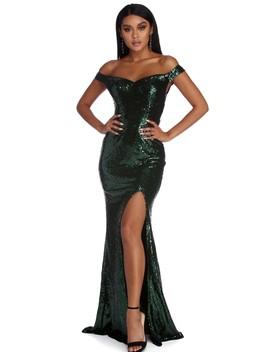 Akira Formal Affair Sequin Dress by Windsor