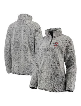 Ohio State Buckeyes Women's Coast To Coast Sherpa Quarter Snap Pullover Jacket – Charcoal by Fanatics