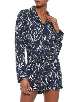 Printed Washed Silk Pajama Set by Equipment