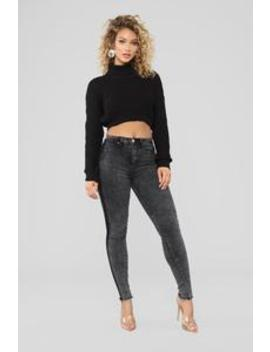 Reyna High Rise Jeans   Acid Black Wash by Fashion Nova