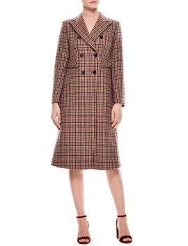 Colere Check Wool Blend Coat by Sandro