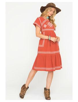 Polagram Women's Rust Valdez Dress by Polagram