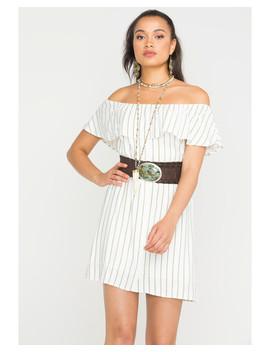 Sage The Label Women's White Striped Heartbreaker Dress by Sadie&Sage