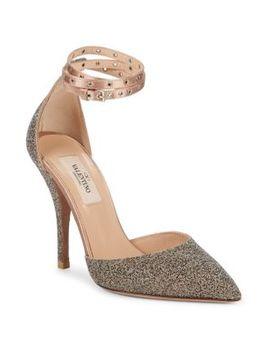 Embellished Ankle Strap Pumps by Valentino Garavani