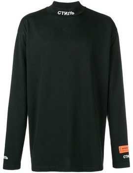 """Style"" Mockneck T Shirt by Heron Preston"