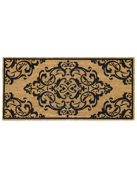 Intricate Scroll Coir Doormat 22 X 47 In by At Home