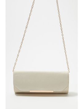 Faux Suede Evening Clutch With Chain by Urban Planet
