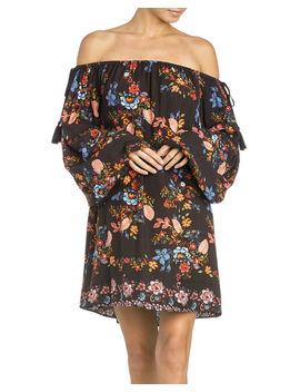 Miss Me Women's Black Off The Shoulder Flounce Dress by Missme