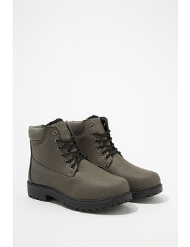 Nubuck Lace Up Workboot by Urban Planet