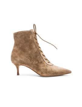 Suede Kitten Heel Lace Up Ankle Boots by Gianvito Rossi