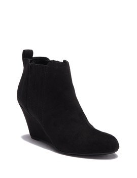 Finger Gore Wedge Bootie by Report