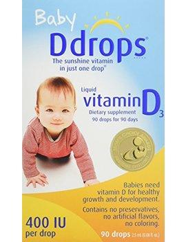 Ddrops Baby 400 Iu, Vitamin D, 90 Drops 2.5m L (0.08 Fl.Oz) by Ddrops