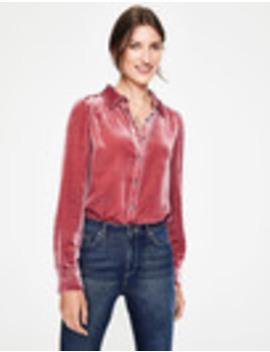 Kristen Velvet Shirt by Boden