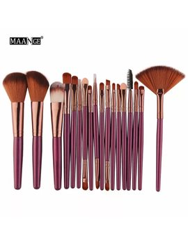 Maange 6/15/18 Pcs Makeup Brushes Tool Set Cosmetic Podwer Eye Shadow Foundation Blush Blending Beauty Make Up Brush Maquiagem by Maange