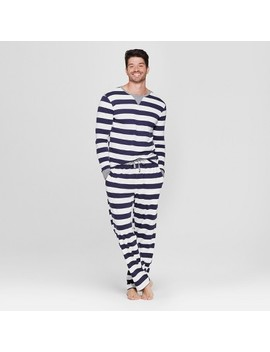 Men's Striped Pajama Set   Navy by Shop This Collection