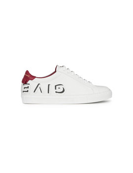 Logo Print Leather Low Top Sneakers by Givenchy