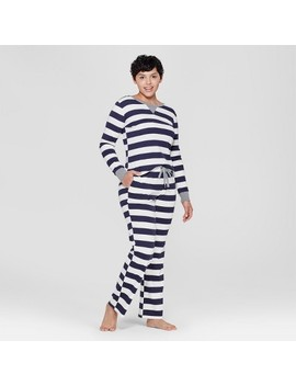 Women's Striped Pajama Set   Navy by Shop This Collection