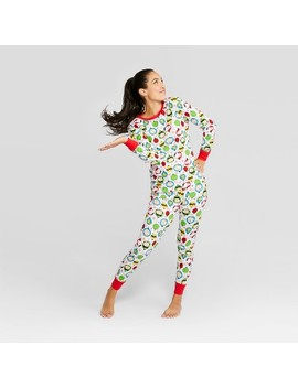 Peanuts Women's Holiday Pajama Set   White by Shop This Collection