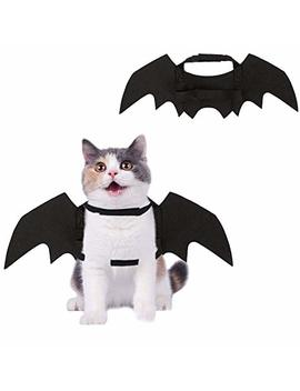 Homimp Halloween Pet Bat Costume For Cats And Puppies Black Wings by Homimp