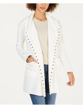 Stud Embellished Hooded Cardigan, Created For Macy's by Style & Co