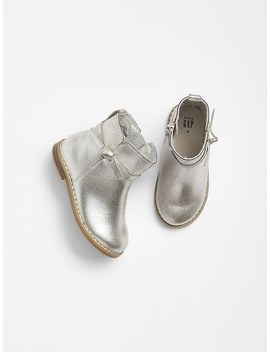 Metallic Bow Boots by Gap