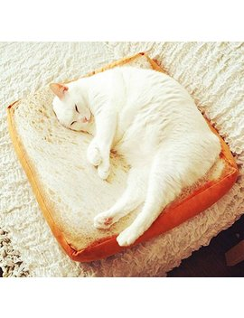 Gefry Creative Toast Bread Slice Style Pet Mats Cushion Soft Warm Mattress Bed For Cats & Dogs (Sponge Core) by Gefry