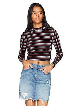 Hayden Rose Young Women's Teen Full Sleeve Turtle Neck Crop Fit T Shirt by Hayden+Rose