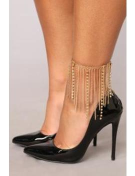 Hot Stone Anklet   Gold by Fashion Nova