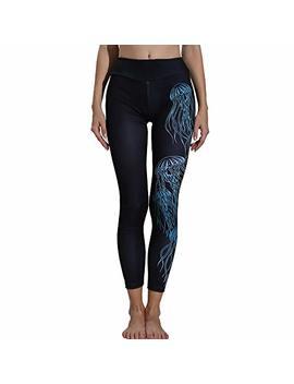 Sale Print Yoga Pants,Women's Leggings Sports Gym Yoga Workout Fitness Lounge Athletic Sports Trousers By Newonesun by Newonesun Pant