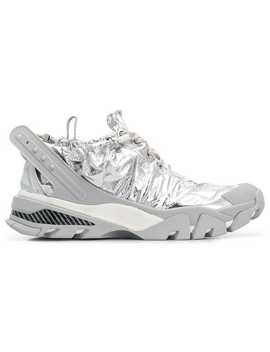 Drawstring Foil Runner Sneakers by Calvin Klein 205 W39nyc