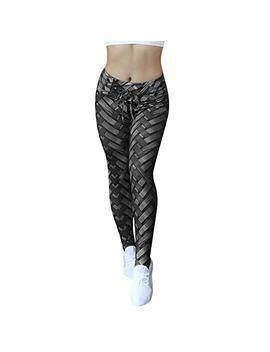 Drawstring Patchwork Yoga Pants,Women's Hight Waist Yoga Shanto Legging Running Stretch Sports Trouser By Newonesun by Newonesun Pant