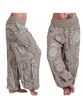 Muramba Clearance Pants Womens Plus Size Loose Print Harem Wide Trouser by Muranba Pants