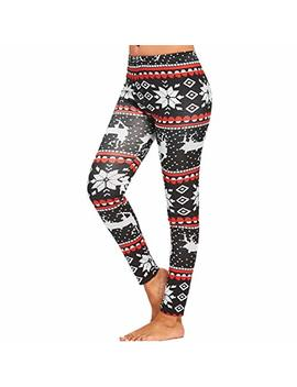 Mikey Store Womens Christmas Tighten High Waist Pencil Pants Trousers by Mikey Store Women Clothing