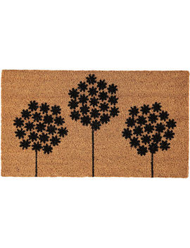 Black Dandelion Door Mat 40x70cm by