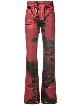 Painted Print Flared Jeans by Calvin Klein 205 W39nyc