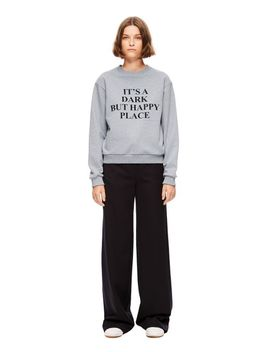 Women's Gray Dark But Happy Place Sweatshirt by Victoria Beckham